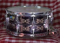Ludwig Black Beauty Super Sensitive - Hand Engraved Snare Drum - circa 1970