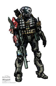Halo: REACH Emile and early helmet concept by Isaac Hannaford on ArtStation. Halo Reach Emile, Character Concept, Character Art, Character Inspiration, Odst Halo, John 117, Halo Spartan, Halo Armor, Halo Game