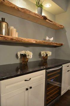 Creative Shelving Ideas for Kitchen - Diy Kitchen Shelving Ideas - Rustic Decor - Shelves in Bedroom Floating Shelves Kitchen, Wooden Wall Shelves, Rustic Shelves, Kitchen Shelves, Diy Kitchen, Kitchen Decor, Design Kitchen, Studio Kitchen, Bar Shelves