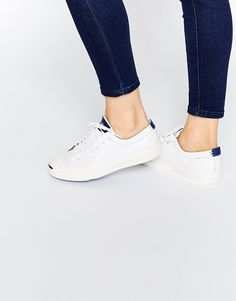 fbe15f820a7 Converse Jack Purcell White Leather Trainers at asos.com