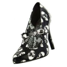 Iron-Fist-cranio-cegado-Mary-Jane-Gotico-Emo-Punk-Esqueleto-saltos-sapatos-tamanho-7-10