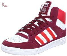 adidas Originals Pro Play, Baskets mode homme, Blanc (White Ftw/Vivid Red S13), 44 2/3 - Chaussures adidas (*Partner-Link)