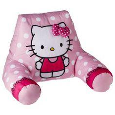 Hello Kitty Bed Rest Pillow Hello Kitty Bedroom, Hello Kitty Baby, Sanrio Hello Kitty, Bed Rest Pillow, Big Girl Rooms, Needlework, Nursery, Pillows, Crafts