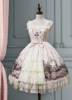 Lemon Honey -The Deserted Garden- Lolita Open Front Jumper Dress