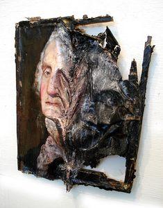 Explosition de tableaux par Valerie Hegarty