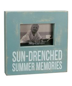 Take a look at this 'Sun-Drenched Summer Memories' Box Picture Frame by Primitives by Kathy on #zulily today!