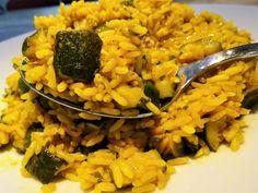 Wok de riz aux courgettes