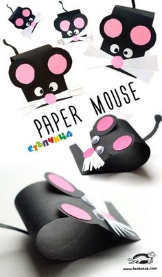 55 Super Ideas Diy Paper Animals For Kids Art Projects Mouse Crafts, Animal Crafts For Kids, Easy Paper Crafts, Paper Crafts For Kids, Toddler Crafts, Diy Paper, Projects For Kids, Diy For Kids, Paper Crafting