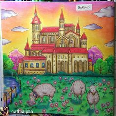 @Regrann from @cathialpha - #romanticcountrycoloringbook by #eriy using…