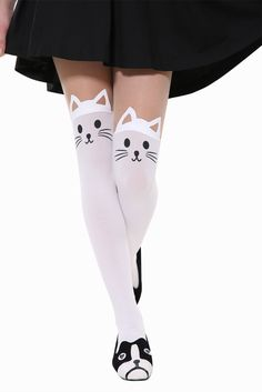 Cute Little Cat Is Dreaming Tights. Free 3-7 days expedited shipping to U.S. Free first class word wide shipping. Customer service: help@moooh.net