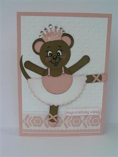 I was asked to make a card for a little girls 4th birthday. She loves dancing so I went with that theme..this started out as a teddy bear bu...