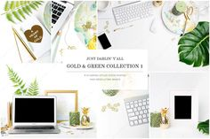 Gold & Green Styled Stock HM by Just Darlin Y'all on @creativemarket #GoldInvestment