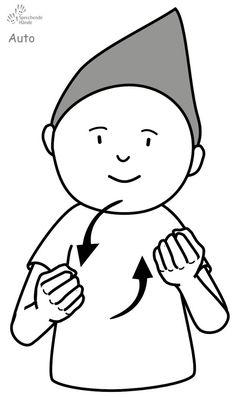Auto Kindergebärden Babyzeichen Babyzeichensprache Babygebärden Gebärdensprache Charlie Brown, Baby Kids, Kindergarten, Snoopy, Fictional Characters, Autos, Special Needs Children, Learn Sign Language, Peculiar Children