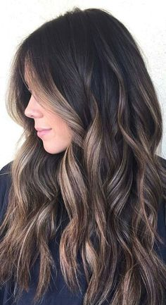 Vanilla with Brunette Balayage hair color
