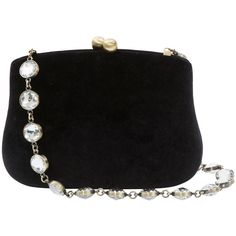SERPUI Blair Black Velvet Clutch ($240) ❤ liked on Polyvore featuring bags, handbags, clutches, purses, black, velvet purse, velvet handbag, jewel purse, man bag and ball purse