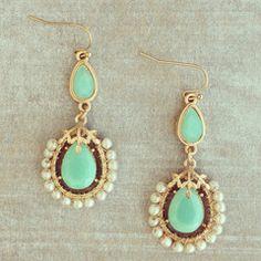 Mint Cinderella Earrings