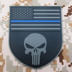 black background grey design The thin blue line Devgru SealTeam Punisher american flag DEVGRU SealTeam 3D PVC Velcro Patch