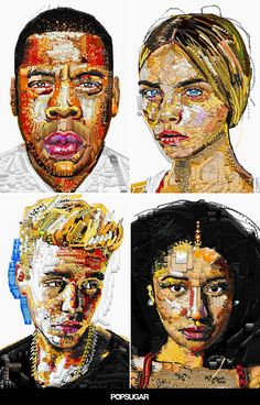 By using emoji to create vividly detailed likenesses of celebrities, California rapper and artist Yung Jake is blowing minds worldwide using emojis to create digital portraits.