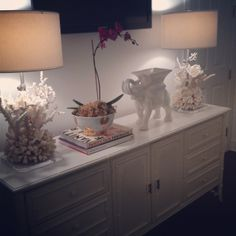 """""""This Z Gallerie elephant recently made its way into our master bedroom."""""""