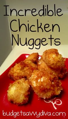 Baked Barbecue Chicken Nuggets Recipe - Using BBQ chips as a coating instead of breadcrumbs!