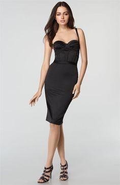 Just Cavalli Stretch Satin Bustier Dress