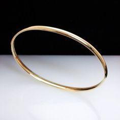 Thin & Dainty 14k Yellow Gold Bangle Bracelet