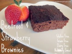 Beetroot and Strawberry Brownies
