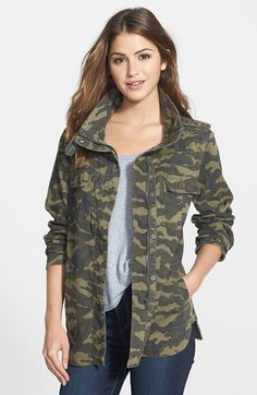 Free shipping and returns on PRESS Two-Pocket Stretch Cotton Military Jacket at Nordstrom.com. Military detailing brings sharp style to a casual stretch-cotton jacket cut for an easy silhouette with a shirttail hem.