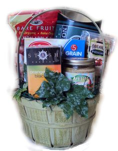 Diabetic Healthy Birthday Basket for Him--great gift basket for the man with diabetes.