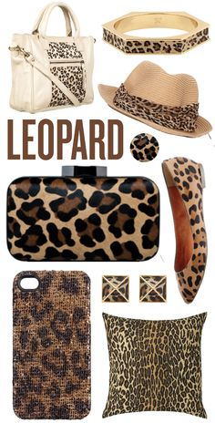 I don't really care for animal prints but I think accessories can add a chic pop to an outfit.