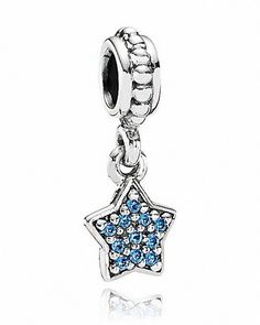 2bc942af0 PANDORA Dangle Charm - Blue Cubic Zirconia Pavé Star | Bloomingdale's | $45 Pandora  Charms Cheap