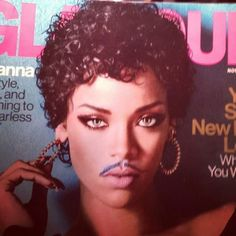 If you add a mustache to Rihanna she is actually Prince....look at the rest of the pics! We've been bamboozled!.