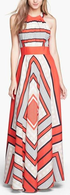 Eliza J Scarf Print Woven Maxi Dress. I do love this. Especially for Auburn games. But not loving the price.