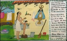 Куча скорпионов выползла из-под крыши, когда я мыла своего сына Карлито. Благодарю Пресвятую Деву Сан-Хуанскую, что они нас не покусали и нам удалось их всех перебить.    Роза Мария Гонзалес Пенья.