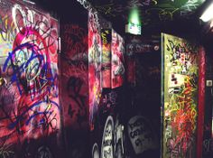 Graffiti walls in a night club in Lahti, Finland.