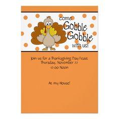 Thanksgiving Gratitude Thanksgiving Party Invitation Template