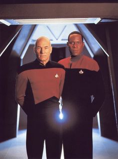 The two best captains in Starfleet. Picard and Sisko