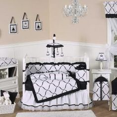 Culture Branding Princess Black & White Baby Crib Bedding CLICK THE IMAGE FOR MORE!!