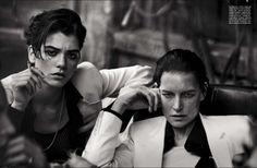 "Peter Lindbergh assina o editorial ""Lunch in Brooklyn"" da Vogue Itália Maio 2015"