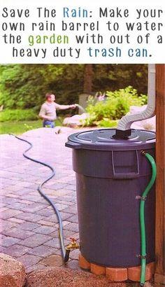 #Gardening Tip : Make Your Own Rain Barrel | My Favorite Things