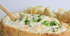 Ingredients :    16oz sour cream  8oz cream cheese, softened  2 cup cheddar cheese, shredded  1/2 cup chopped ham  1 green onion, chopped  1/4 tsp hot sauce  1 tsp Worcestershire sauce  salt  pepper  16 oz French bread loaf          Directions :    In a mixing bowl, combine all ingredients, except
