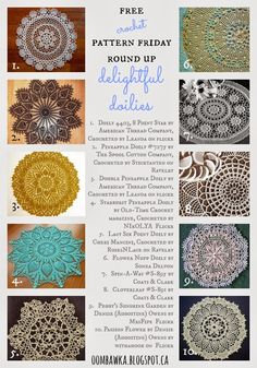 free crochet patterns doily roundup