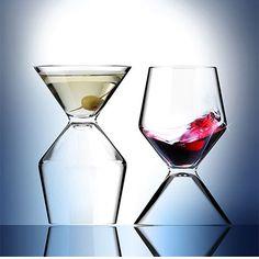 AD-N-ART - Vino Tini Martini-/Wein-Glas