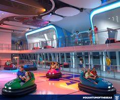 #quantumoftheseas Gosta de carrinhos bate-bate? No Quantum of the Seas serão 30 deles pra garantir a diversão da família toda!  Clique na imagem e saiba mais sobre as novidades a bordo!