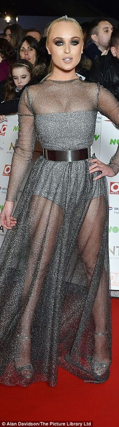 Stars came out for the National Television Awards but some got it wrong on the red carpet by flashing the flesh like Hollyoaks' Jorgie Porter or going old-fashioned like TOWIE's Lydia Bright. Georgie Porter, National Tv Awards, Fashion Fail, Mesh Dress, In The Flesh, Red Carpet Fashion, Hemline, Bridal Gowns, Bright