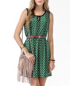 Jagged Tribal Print Dress >> Forever 21! So. Dang. Cute.