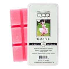 Tickled Pink Wax Bar Melt. Purchase a candle or wax bar and a portion is donated to Rice Bowls(tm), then Provided to orphans overseas.