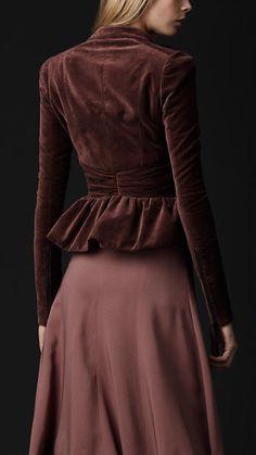 Velvet Peplum Jacket | Burberry