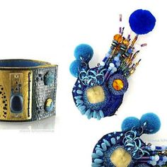 #contemporary #jewellery #design #vogue #blue #unique #amber