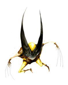 Freaky Superhero Art: Wolverine